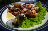 seafood salad at La Casetta