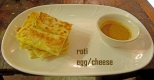 Roti with egg at Roti Canai