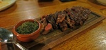 grilled rib eye steak with chimichurri