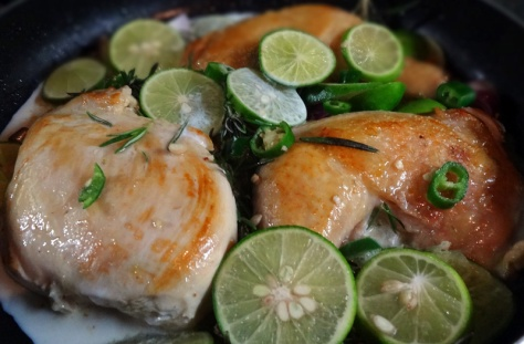 Thyme-lime chicken