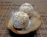 Banana-mango-coconut energy balls