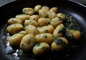 gnocchi tossed in sage butter