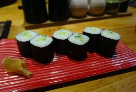 Cucumber maki sushi