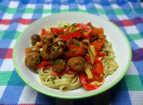 linguine with salsiccia