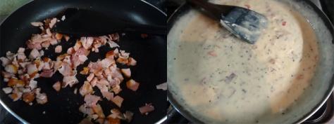 Bacon casserole sauce