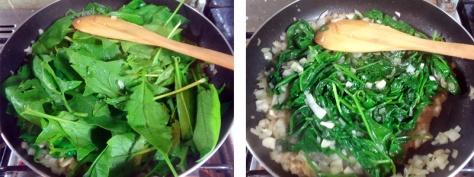 Sauteéd baby spinach