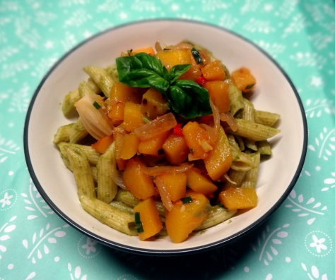 pesto pumpkin penne
