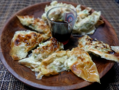 Gyoza with chicken and cabbage
