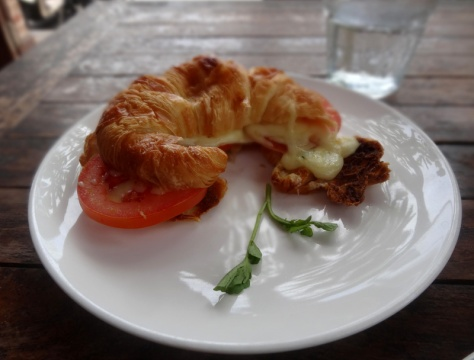 Stuffed Croissant at Watercress cafe
