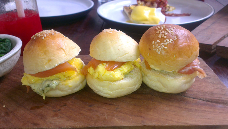 smoked salmon sliders