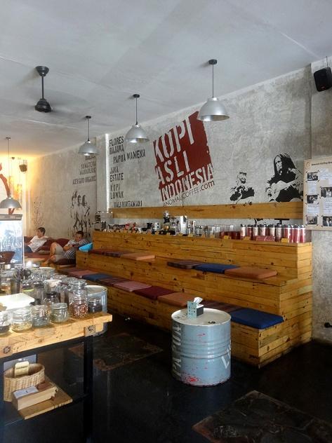 Anomali coffee shop in Seminyak, Bali.