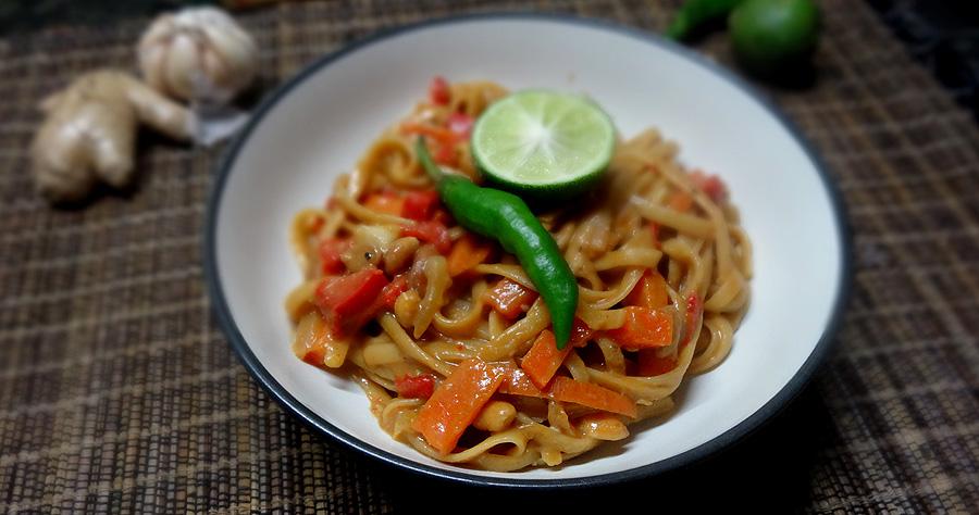 one pot linguine a la phat thai