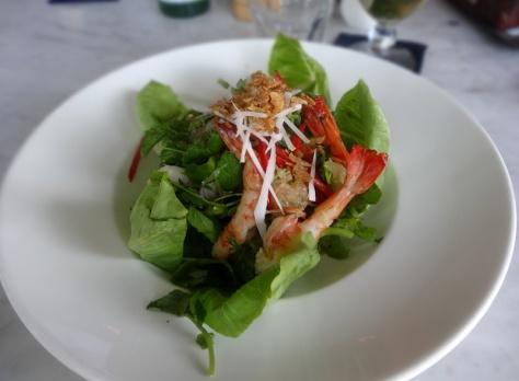 BBQ Prawn salad