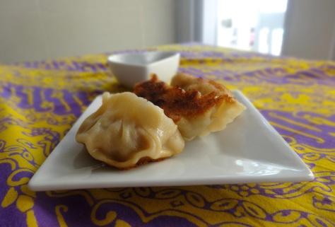 Crispy pork dumpling